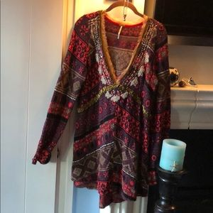 FREE PEOPLE Tribal Boho Sweater!